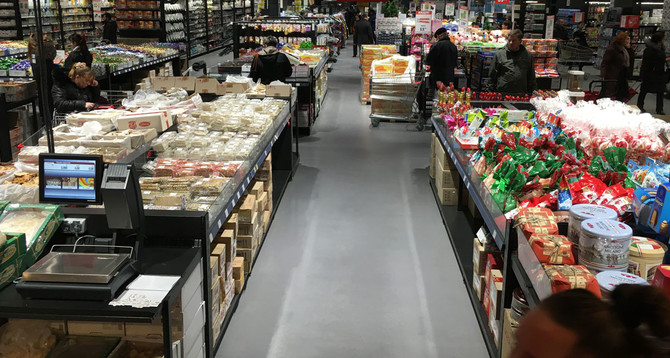 Супермаркет Fozzy:  Площадь: 9200 м2 покрытие Peran STB