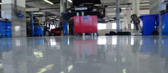 Реконструкція підлоги в СТО «Mazda» - фото №2 - фото № 2