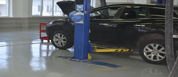 Реконструкція підлоги в СТО «Mazda» - фото №4 - фото № 4