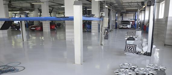 Реконструкція підлоги в СТО «Mazda» - фото №5 - фото № 5